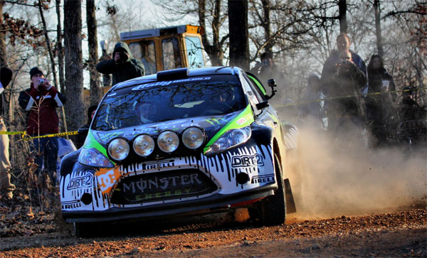 Ken Block at Rally America's 100 Acre Wood