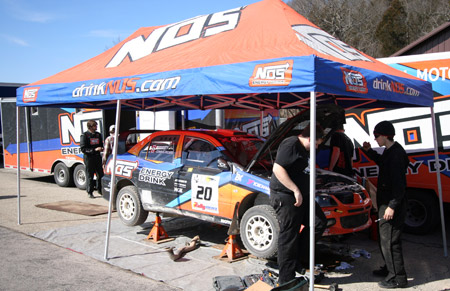 Andrew Comrie-Picard's NOS Energy Mitsubishi EVO