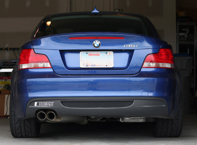 BMW 135i with Berk Technology Exhaust
