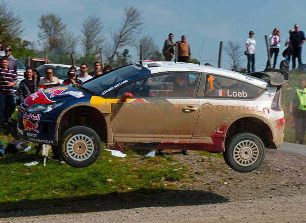 Sebastien Loeb's Citroen flies at Rally Of Turkey