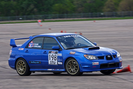 Pat Lipsinic drives 2006 Subaru STi to STU win