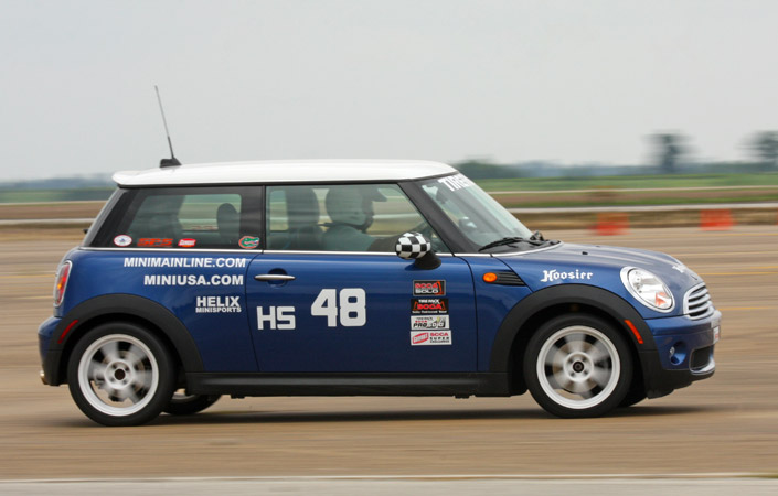 Jeff Jacobs drives his HS Mini at the Blytheville ProSolo