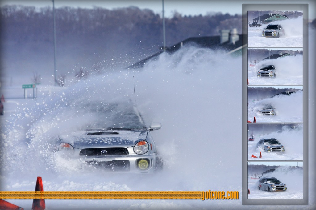 Subaru WRX at Snow Rallycross in February of 2010