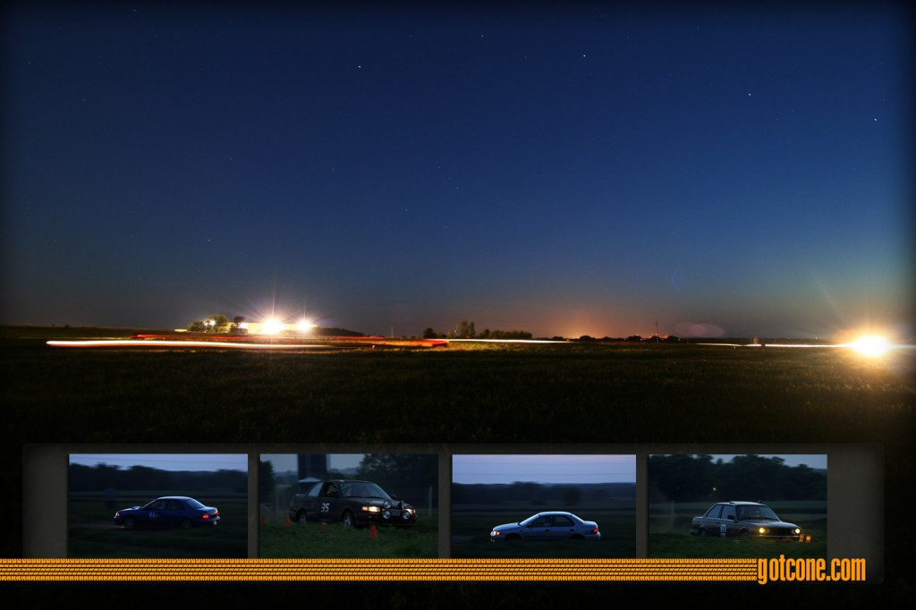 Time Lapse at Twilight Rallycross
