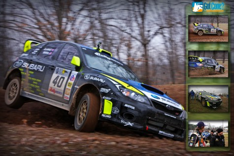Dave Mirra at 2011 100 Acre Wood driving a Subaru STi