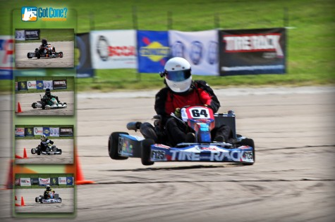 A F125 Kart gets some major air at the 2011 SCCA ProSolo Finale