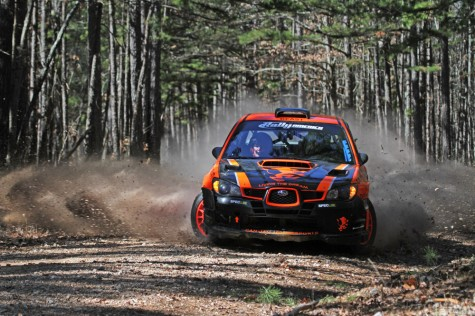 Crazy Leo loses his steering on Stage 9 of 2012 Rally in the 100 Acre Wood