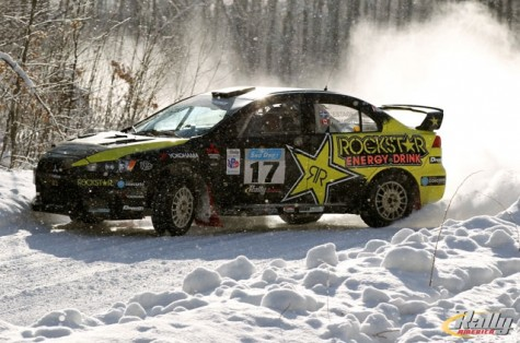 Antoine L&#039;Estage takes the victory at 2013 Rally America Sno*Drift