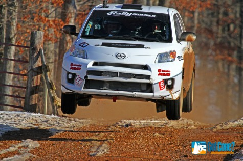 ACP drives his Scion Rally xD to 2WD victory at 100 Acre Wood Rally