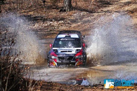 Travis Pastrana made a splash in his return to Rally America at the Rally in the 100 Acre Wood