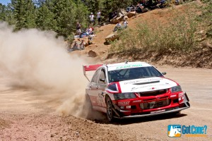 David Kern's Mitsubishi EVO at 2011 Pike's Peak International Hill Climb