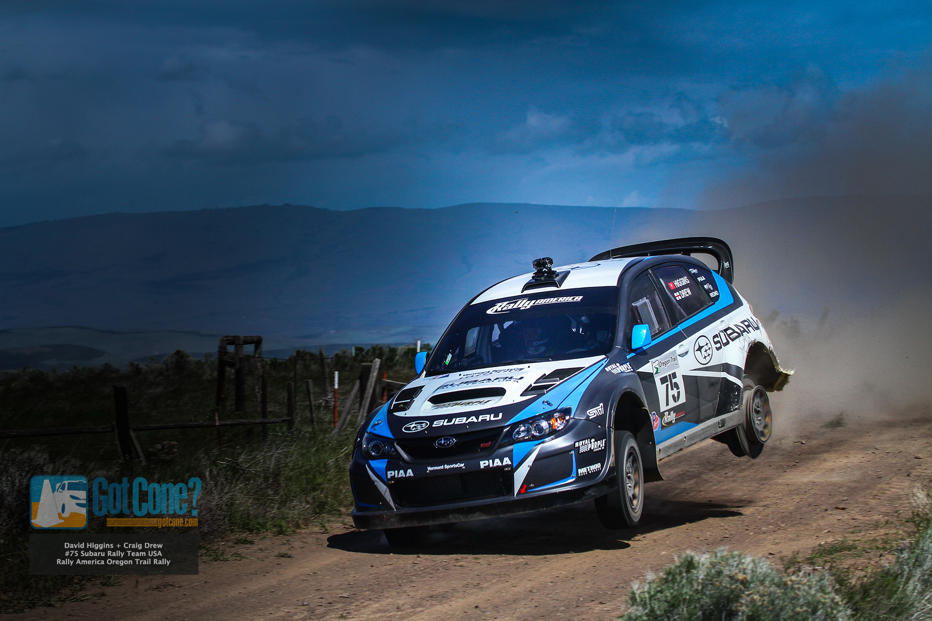 Lovely David Higgins 3 Tire Jump At Oregon Trail Rally