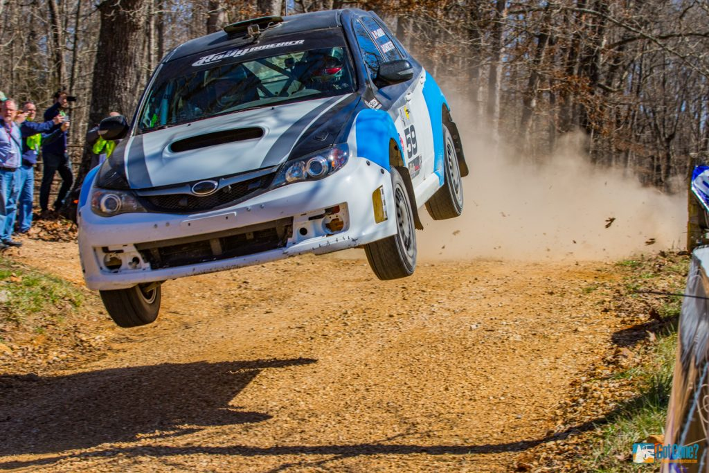 Pat Moro flying high in his SP Subaru