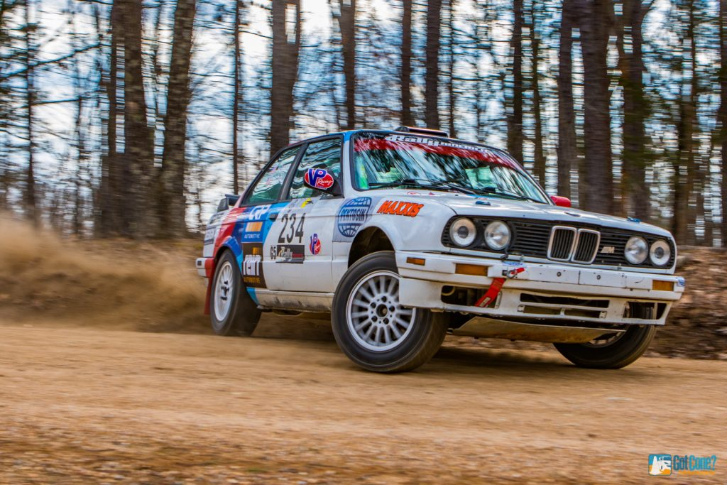 e30 BMW rally car